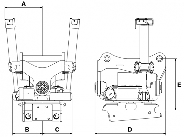 Engcon EC226-DX235-QS70GR20-DC2
