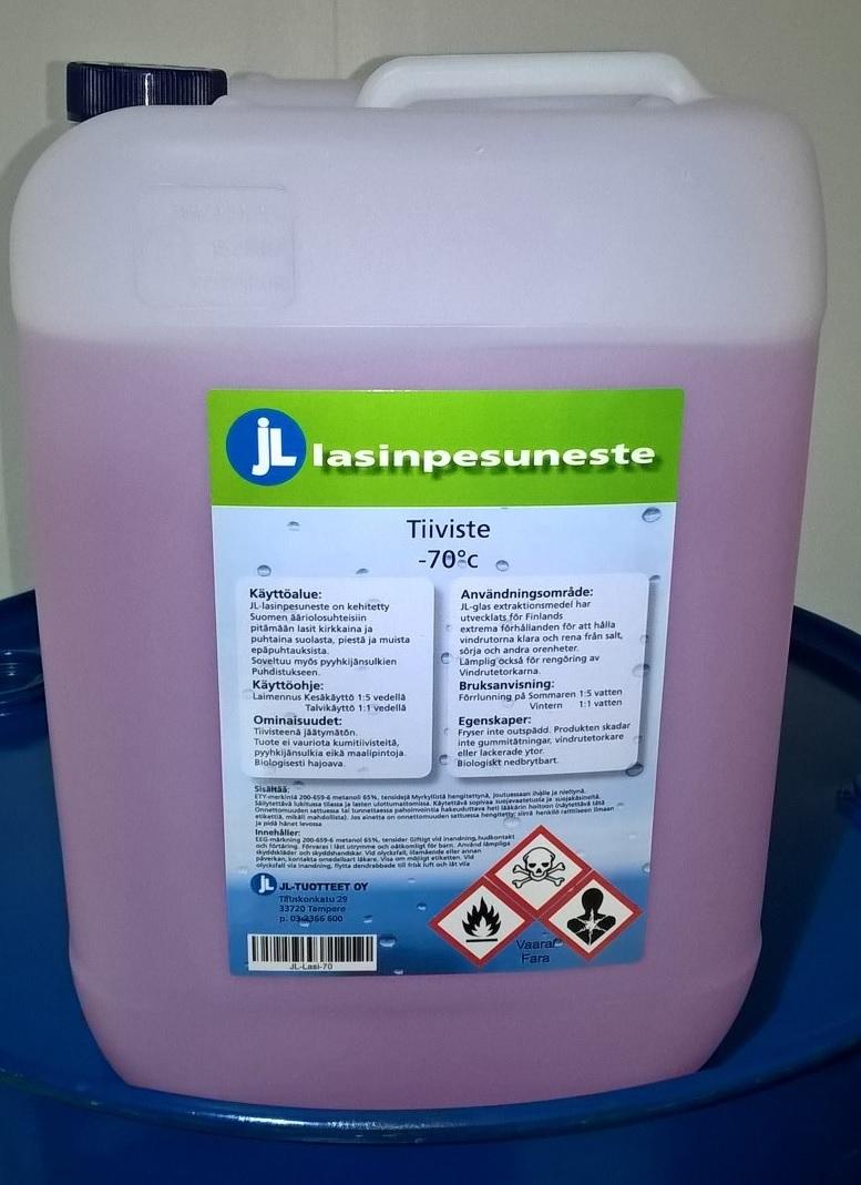 JL-Tuotteet LASINPESUNESTE -70°C - 9 X 20L RAHTIVAPAASTI