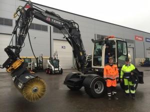 Kaivuripalvelu Markku Järvisen uusi Terex TW110