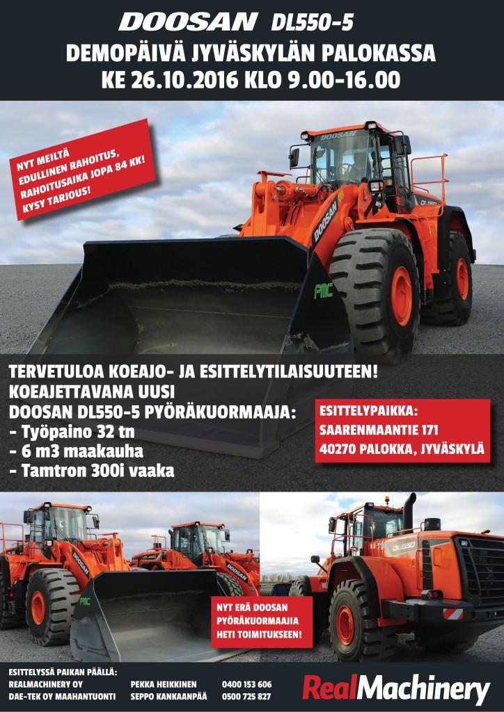 Doosan DL550-5 Demottavana  Jyväskylässä 26.10 klo 9.00-16.00