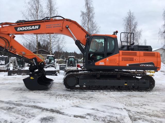 Juujärvi Racing Oy:n uusi upea Doosan DX300LC-5 matkalla Rovaniemelle!