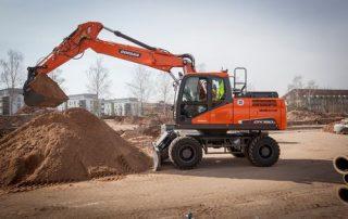 Doosan DX190W-5 pyöräalustainen kaivinkone nostaa tuottavuuttasi!