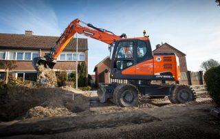 Doosan DX165W-5 kaivinkone tarjoaa erinomaista vakautta sekä maksimaalisen nostokapasiteetin