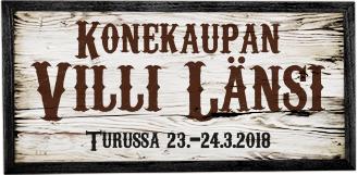 Tervetuloa Konekaupan Villiin Länteen 23.-24.3!