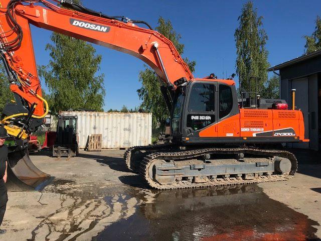Suomen Tehokaivu Oy:n uusi Doosan DX300LC-5