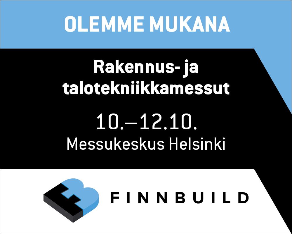 Tervetuloa osastollemme 7E130 Finnbuild-messuille!