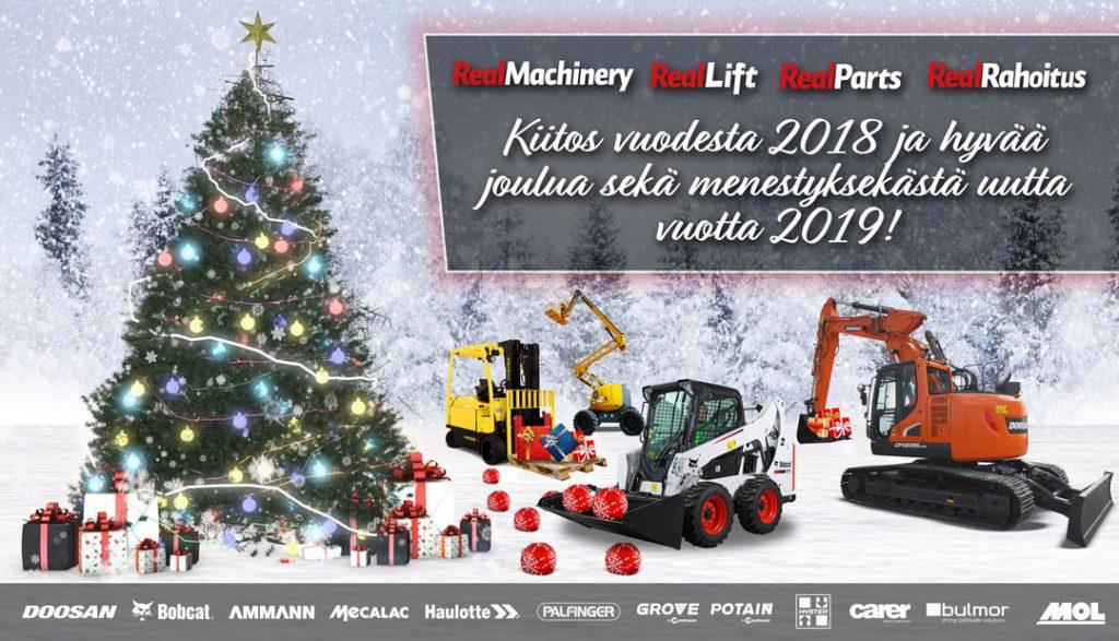 Hyvää joulua ja menestyksekästä vuotta 2019!